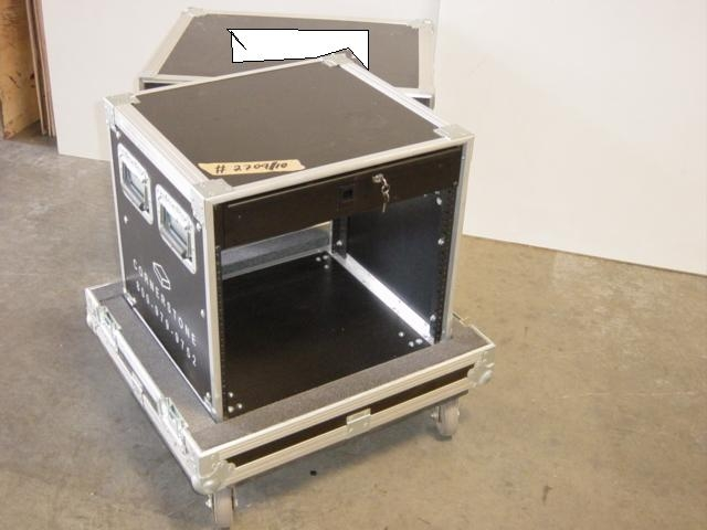 Print # 2709 - Custom case for Rack enclosure 10 Space 17 3/4 Deep By Nelson Case Corp