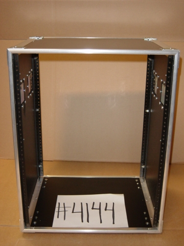 Print # 4144 - Custom 5 space rack enclosure with (4) drawers By Nelson Case Corp