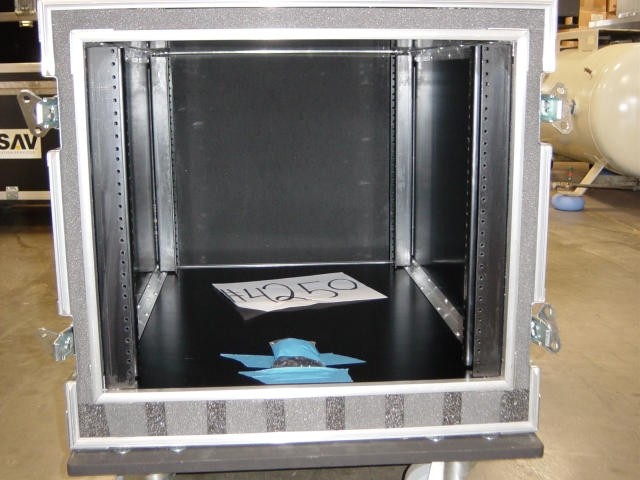 Print # 4250 - Custom 10 Space Double Rack for Servers  By Nelson Case Corp