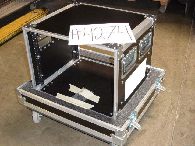 Print # 4274 - custom 8 Space Rack Case By Nelson Case Corp