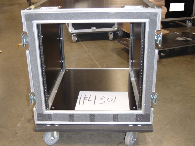 Print # 4301 - Custom case for 10 RU Amp Rack By Nelson Case Corp