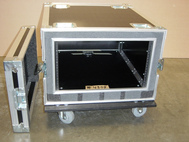 Print # 4302 - Custom 6-RU AMP Rack Case By Nelson Case Corp