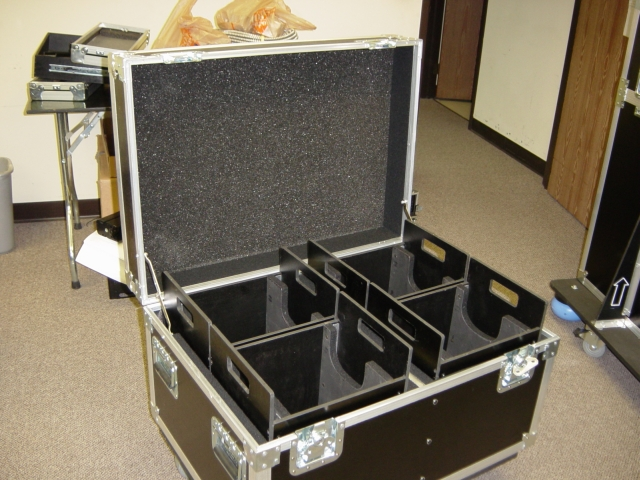 Print # 4336 - Custom Road Case for 4-Pack CM Prostar 1/2 Ton Electric Chain Motor with Removable Trays By Nelson Case Corp
