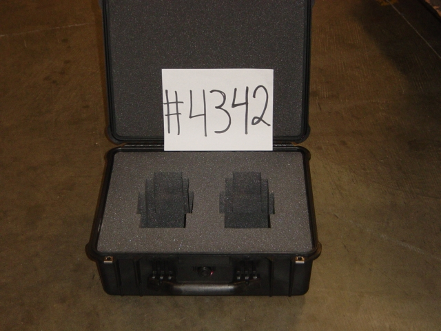 Print # 4342 - Pelican case for (2) LX-26/35 1.3-1.8 Lenses By Nelson Case Corp