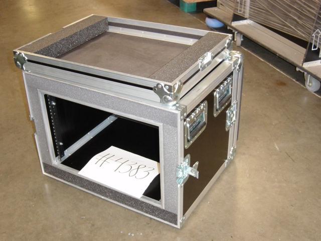 Print # 4383 - Custom case for 7 Space Double Rack, 17 in. deep By Nelson Case Corp