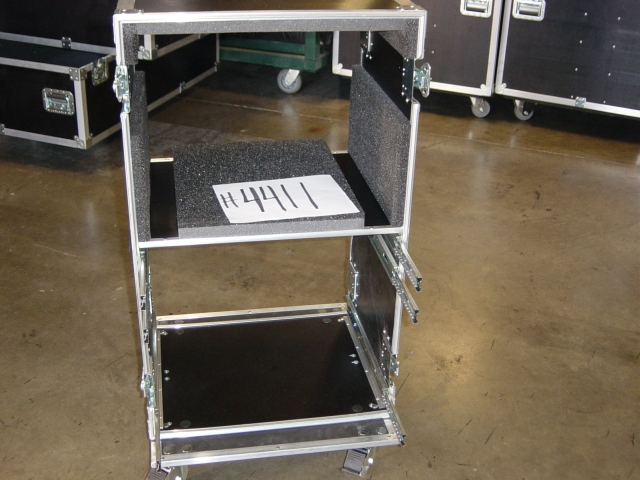 Print # 4411 - Custom case for 8 Space Double Rack with (3) drawers By Nelson Case Corp