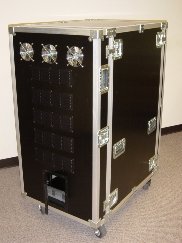 Print # 4456 - 25 Unit Dual Rackmount  ATA Shipping & Storage Case By Nelson Case Corp