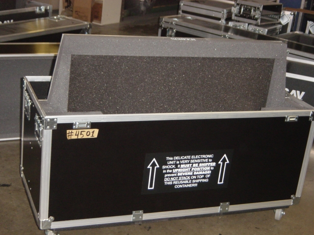 Print # 4501 - Custom case for Pioneer PDP-507 CMX Plasma and (2)Speakers with Metal Base Stand By Nelson Case Corp