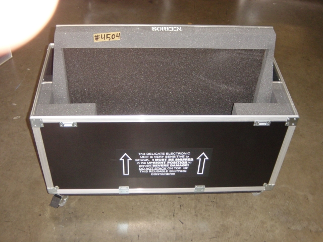 Print # 4504 - Custom case for Pioneer PDP-425 CMX and Metal Base Stand By Nelson Case Corp