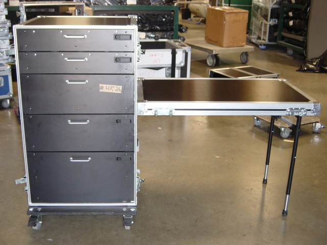 Print # 4526 - Custom case for a Show Office Bit Box with (5) Drawer By Nelson Case Corp