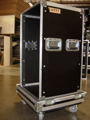 Print # 4551 - Custom case for 18 Space Rack Enclosure By Nelson Case Corp