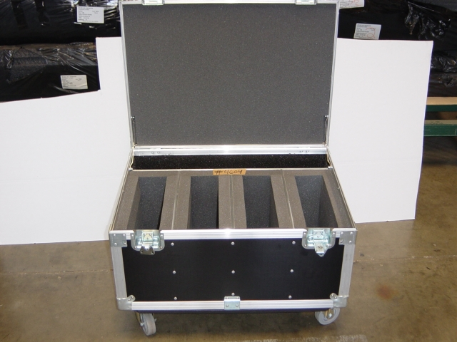 Print # 4604 - Custom case for Four Hitachi Projectors  By Nelson Case Corp
