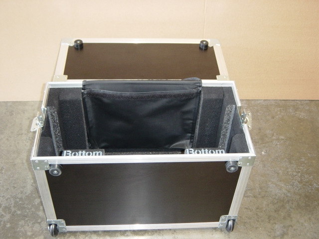 Print # 4666 - Custom case for Panasonic PT-D7700U Projector with metal Frame By Nelson Case Corp