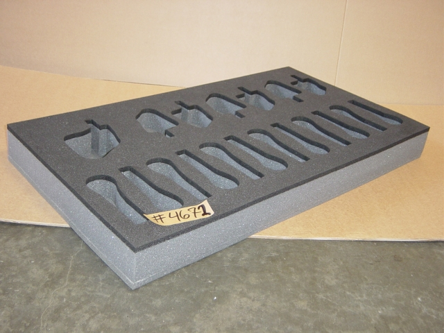 Print # 4672 - Foam Insert for 12 Shure SM58s, 6 Shure B56s w/quick clips, and 1 Shure B52 w/quick clip By Nelson Case Corp