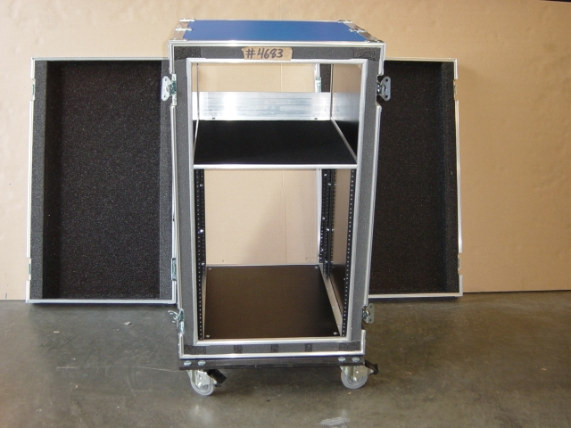 Print # 4683 - Custom case for 13 Space VRX Amp Double Rack By Nelson Case Corp