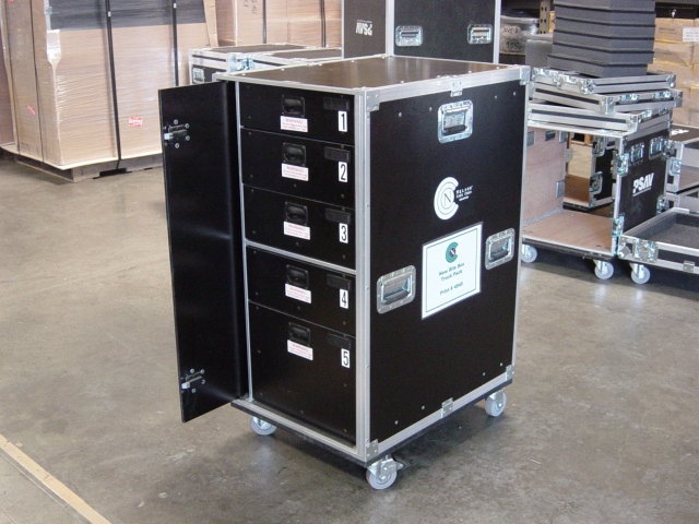 Print # 4848 - Custom case for bit Box with two Sliding Door By Nelson Case Corp