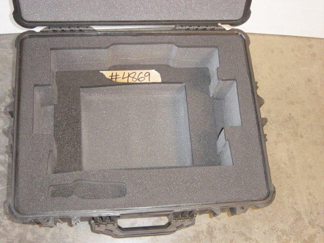 Print # 4869 - Custom Pelican Case 1610 with foam insert for LW400 projector By Nelson Case Corp