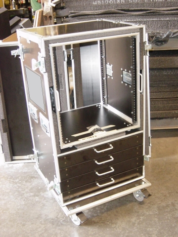 Print # 4902 - Custom case for 12 Ru Removable Rack with (4) 2 1/2 By Nelson Case Corp