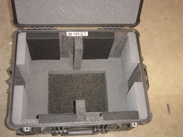 Print # 4923 - Pelican case 1620 with custom foam insert for Sony PVM 9L3 and JVC TM-1051D By Nelson Case Corp