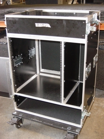 Print # 4925 - Custom Case for Carvin C16444P Mixer, 12 RU Rack, and 2 Storage Compartments By Nelson Case Corp