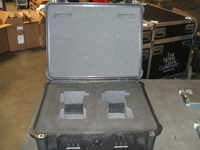 Print # 5367 - Pelican case 1550 with custom foam insert for Sanyo LNS-T32 lens By Nelson Case Corp