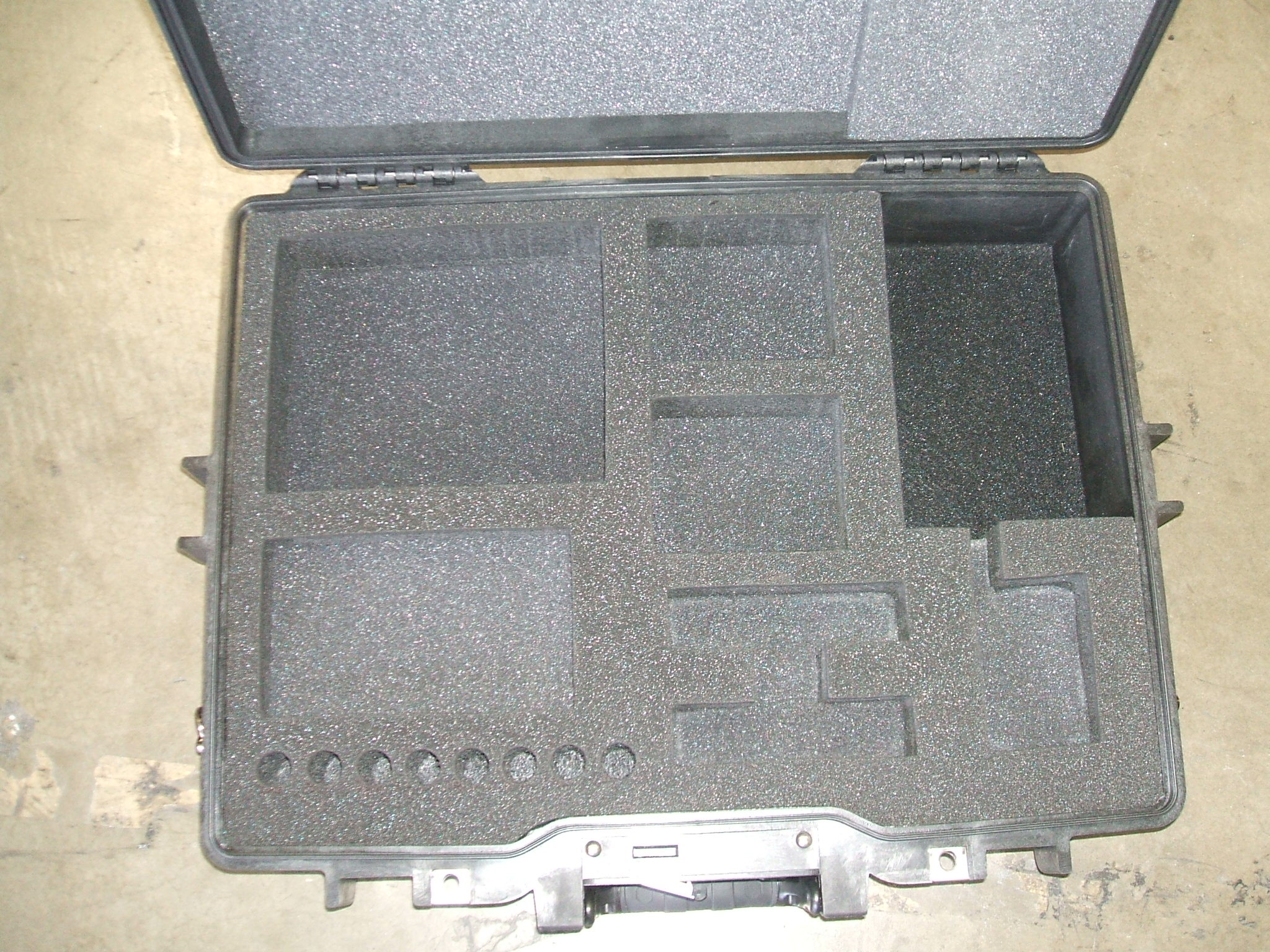Print # 5897 - Pelican 1495 Case w/ Custom Foam Insert for (1) Shure K2U Kit which includes; (1) Shure SRH440 Headphone, (1) Marantz PMD661 MK2 Recorder, (2) Switchcraft RMAS1 Microphone Splitters, (2) Shure X2U Adapter, (1) Behringer UCA202, (8) 4 GB USB Memory Sticks, (1) Accessores Compartment By Nelson Case Corp