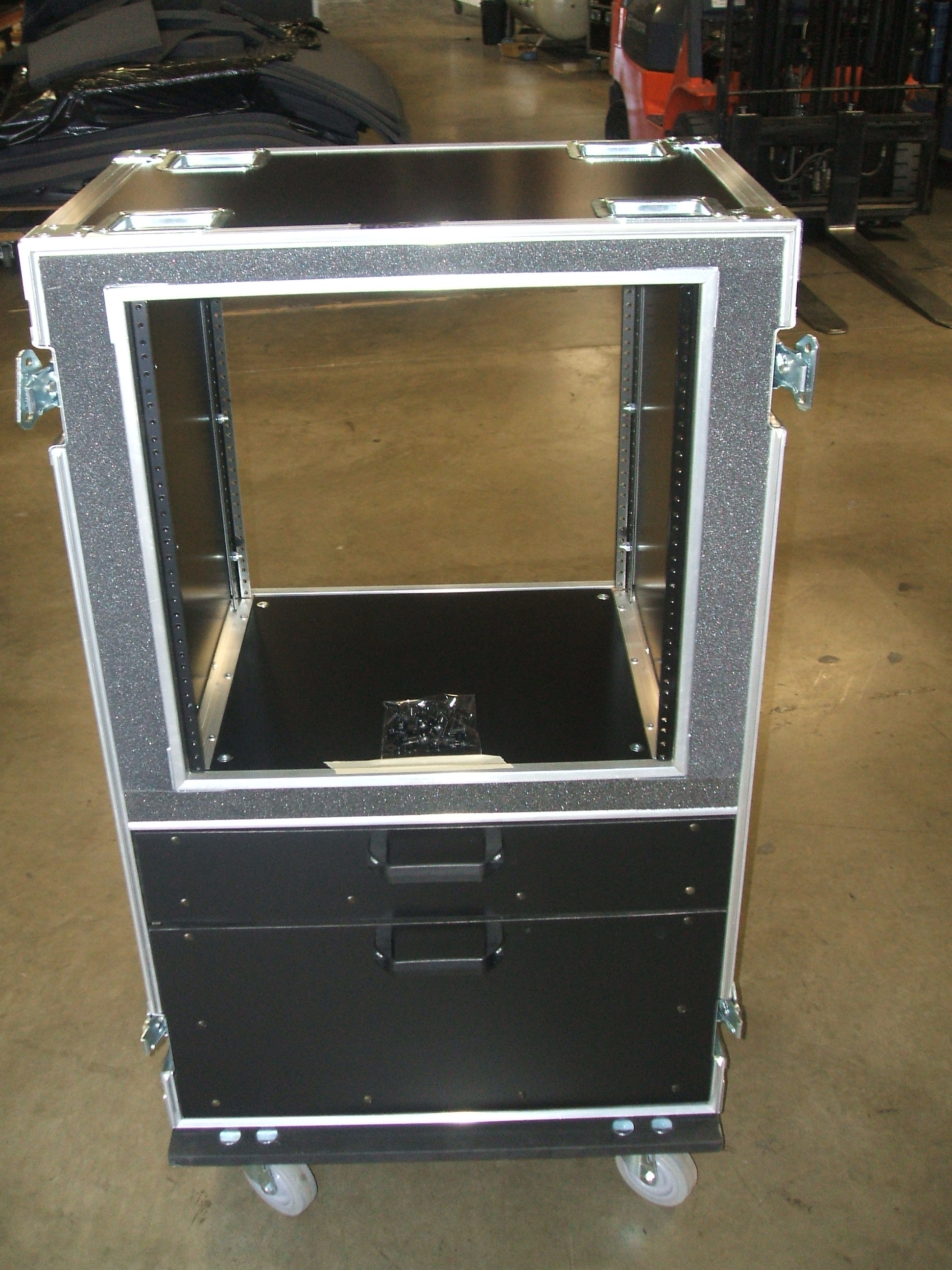 Print # 5902 - Custom 11-RU Rack for Shure UR124D Receiver Kits  By Nelson Case Corp