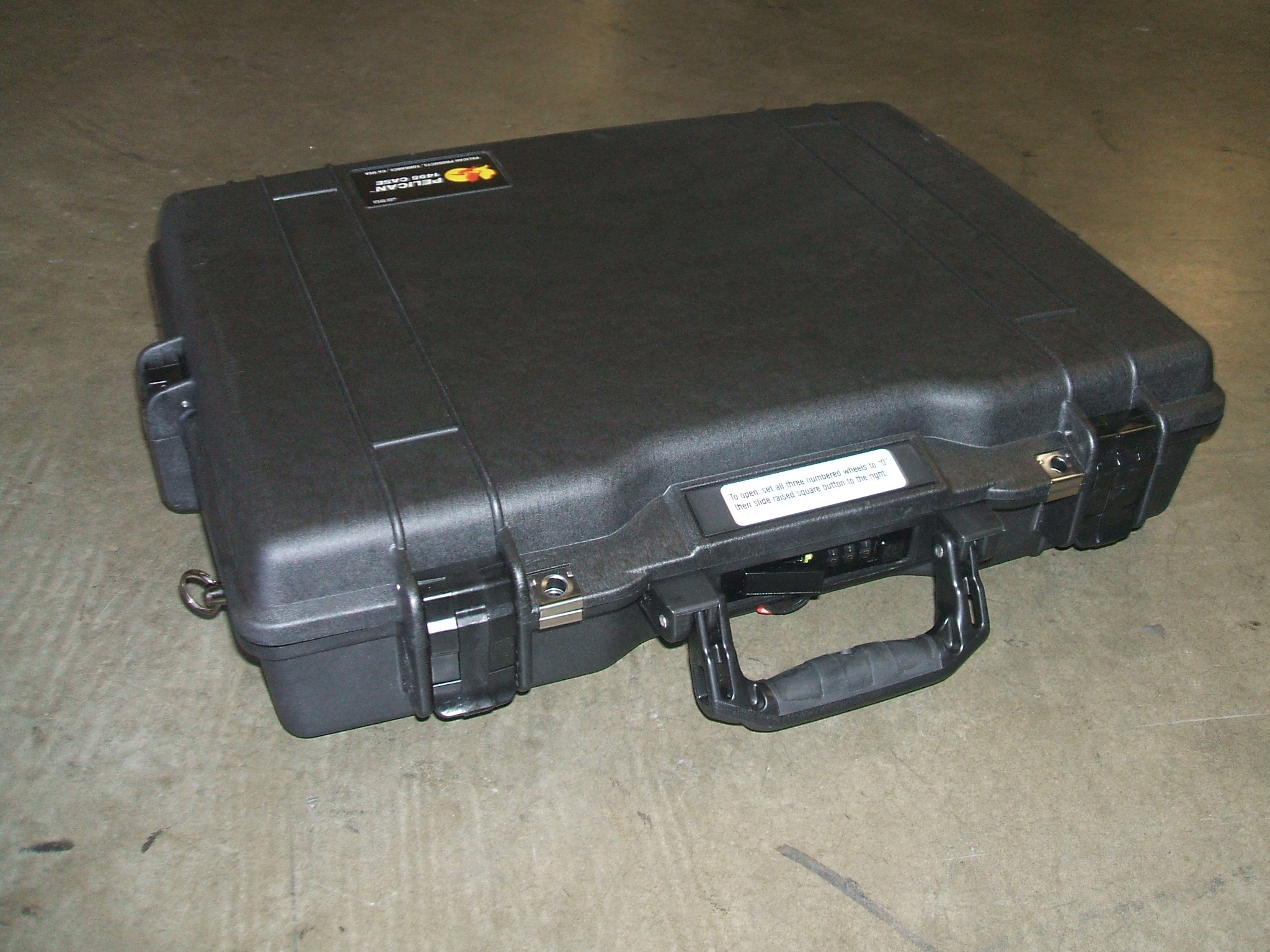 Print # 5905 - Pelican 1495 Case w/ Custom Foam Insert for (1) Dell Spyder Laptop By Nelson Case Corp