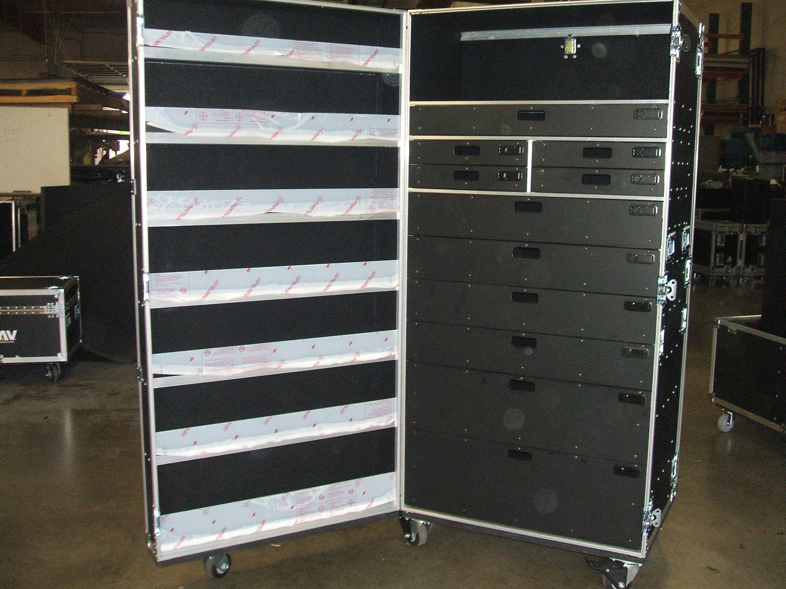Print # 5919 - Custom Work Box with 11 Custom Full Extension Drawers By Nelson Case Corp