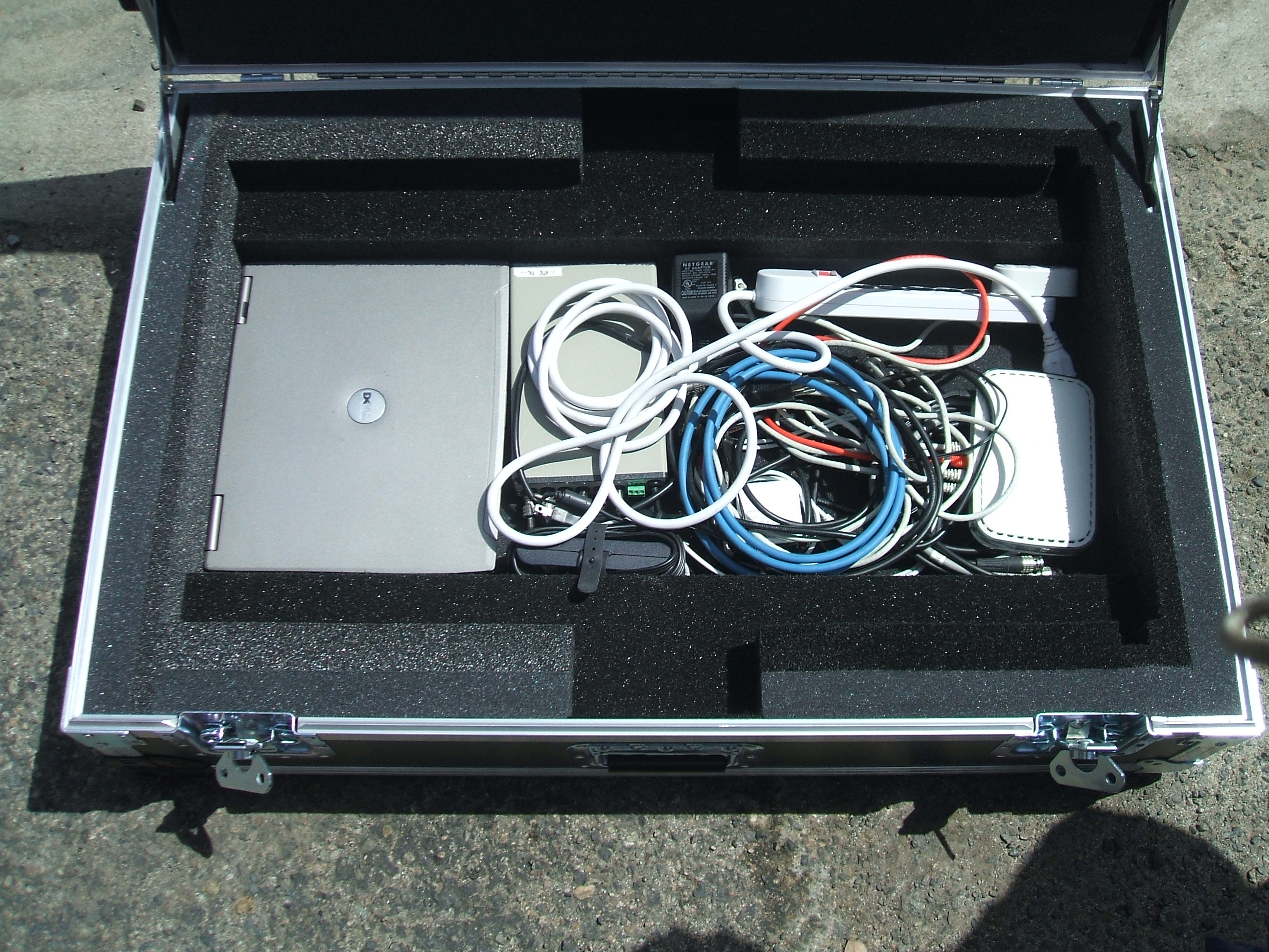 Print # 5921 - Custom Case for (1) Harmonic Spectrum Media Deck 7000 SSD Unit with Accessory  Compartment. By Nelson Case Corp