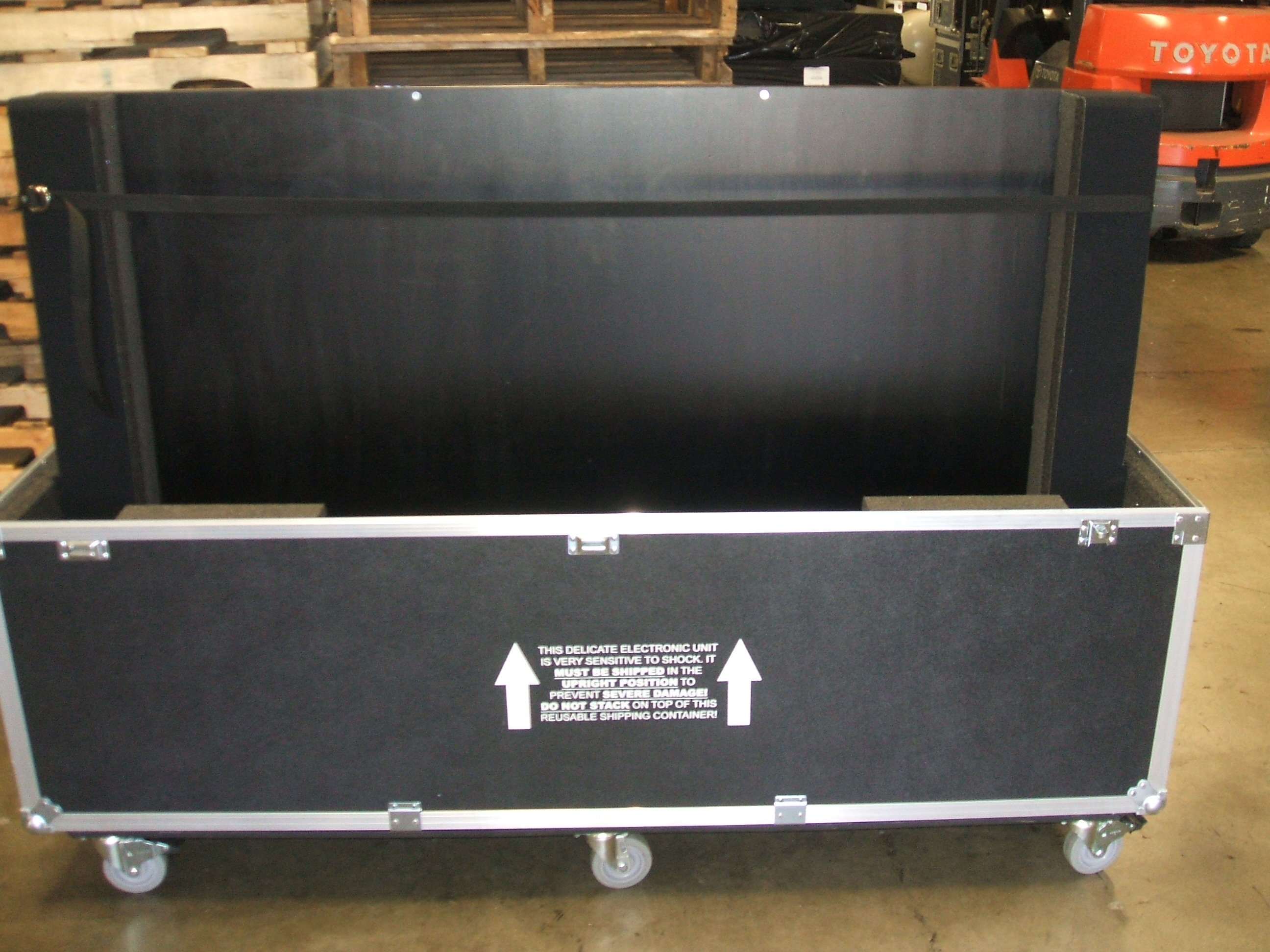 "Print # 5939 - Custom Road Case for Sharp 70"" PNL702B Monitor Kit By Nelson Case Corp"