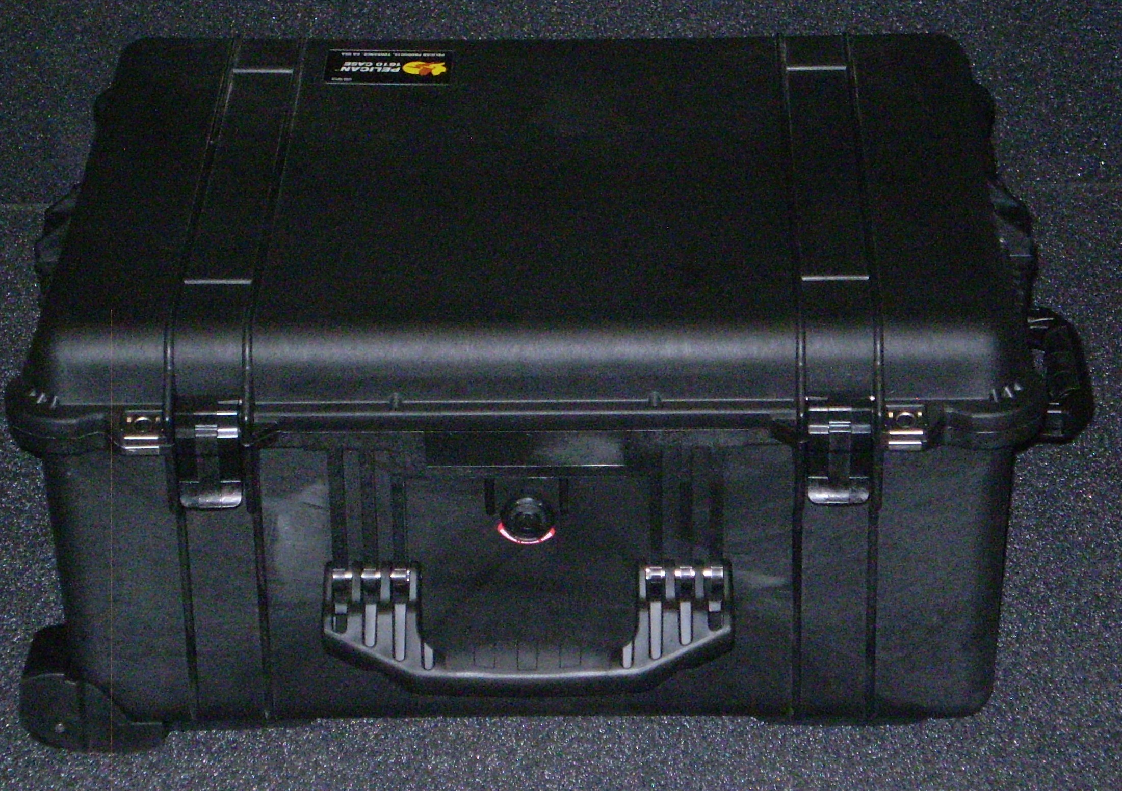 Print # 6188 - Custom Foam Insert and Pelican 1610 Case to hold (2)Power Supplies, (2)Thinklogical Velocity DVI, Reel GT 310RM and, (1) Accessories Compartment By Nelson Case Corp
