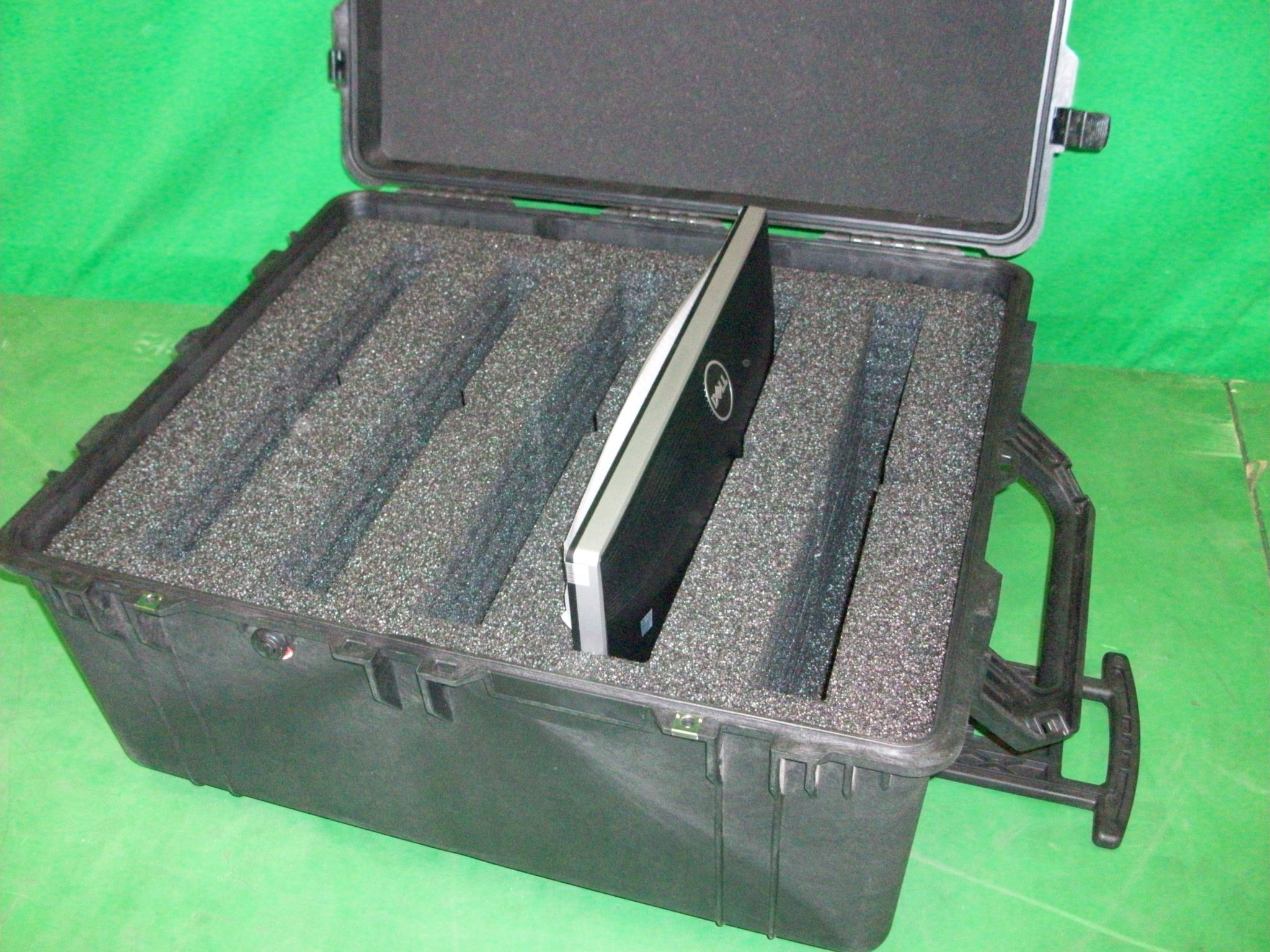 Print # 6318 - Pelican Case 1690 with Custom Foam Insert to hold (5) Dell U2412MB LCD Monitors  By Nelson Case Corp