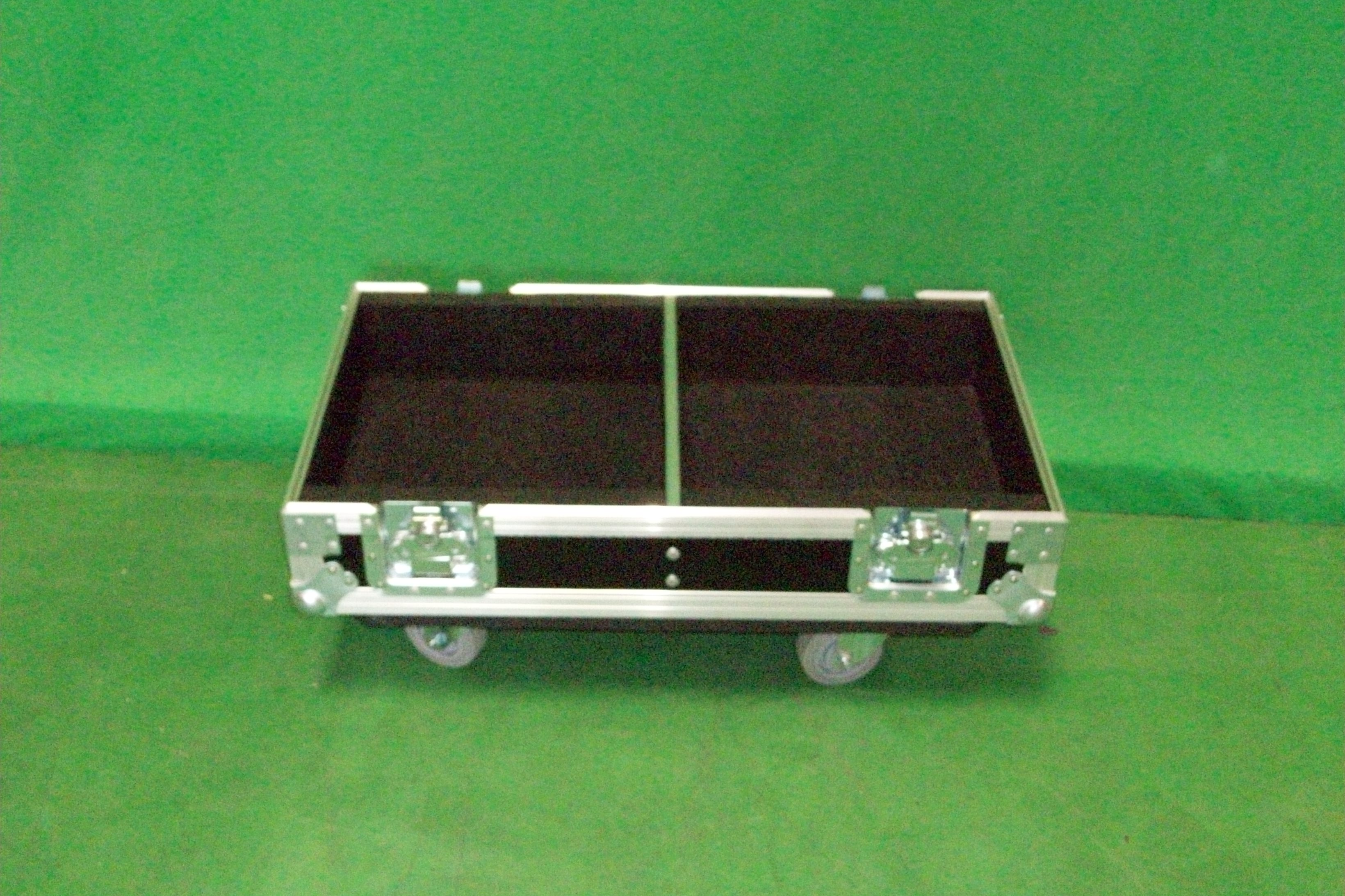 Print # 6494 - Custom Road Case for 2-Pack PRX612M Two-Way Multipurpose Self-Powered Speaker Kit By Nelson Case Corp