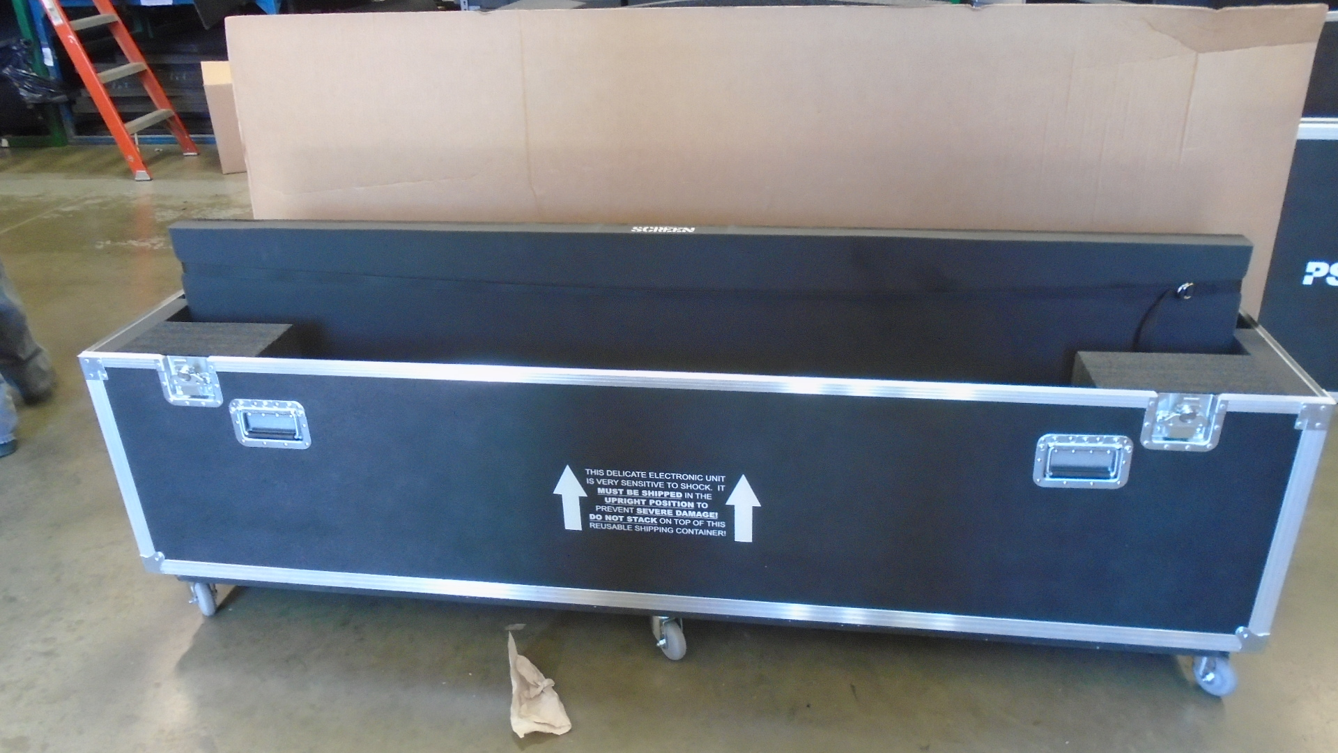 Print # 7620 - Custom Road Case for LG 88BH7D Ultra Stretch Signage Monitor By Nelson Case Corp