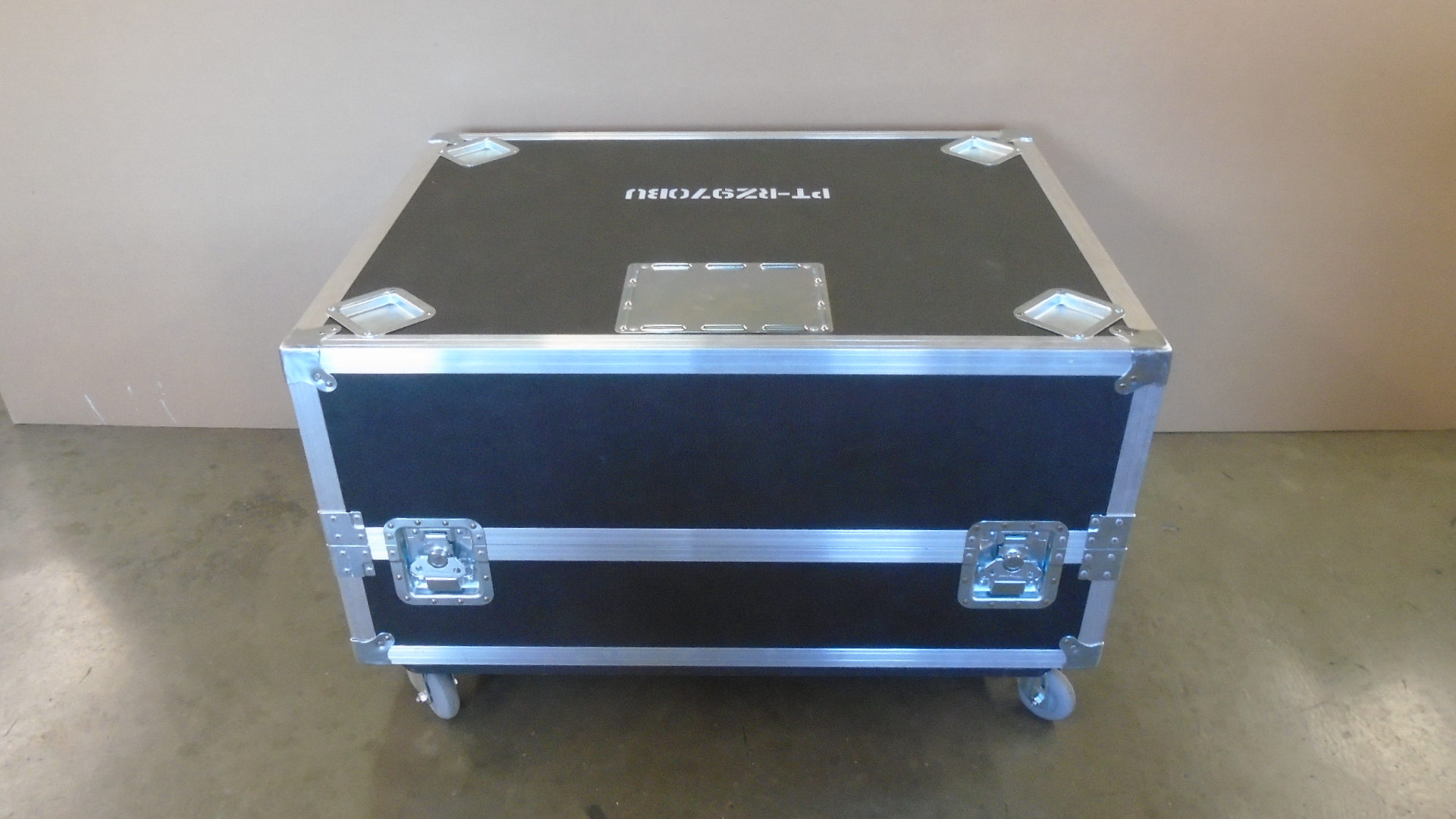Print # 7757 - Custom Road Case for Panasonic PT RZ970BU Projector, ETPDF350 Projector Frame, Generic Lens Compartment By Nelson Case Corp