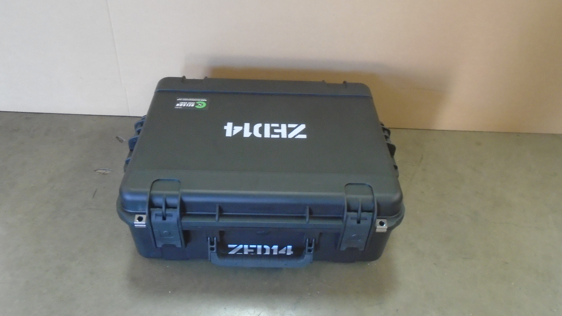 Print # 7767 - SKB 3i-2217-8 Case Retrofitted for Allen Heath ZED-14 Audio Mixer By Nelson Case Corp