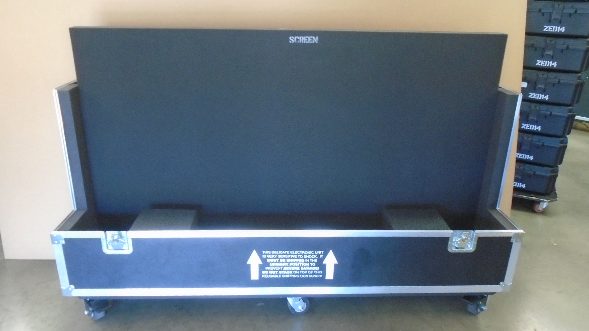 Print # 7775 - Custom Road Case for Sharp PN-E803 Monitor Kit By Nelson Case Corp
