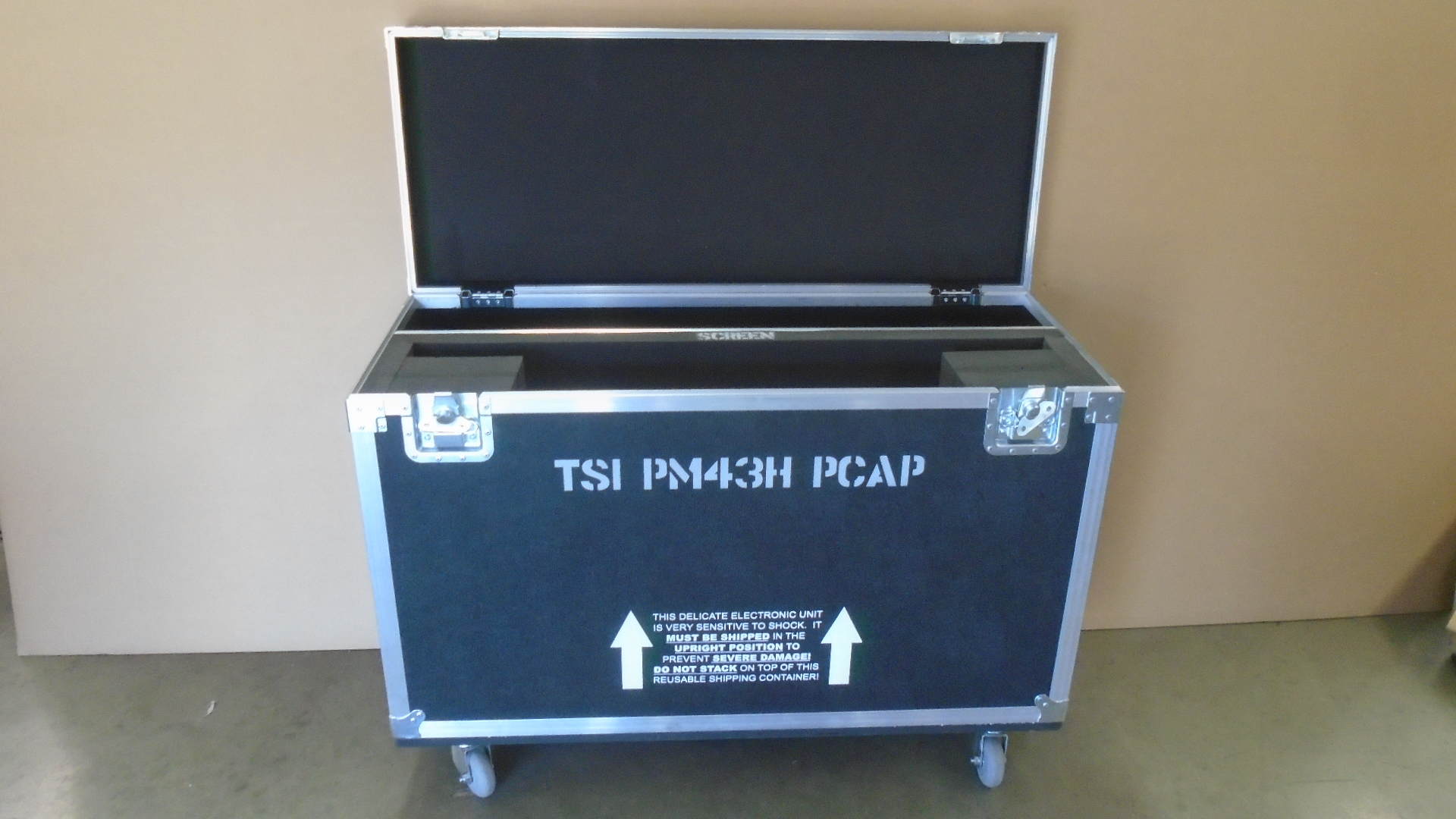 Print # 7787 - Custom Road Case for Samsung PM43H TSI PCAP Monitor Kit By Nelson Case Corp