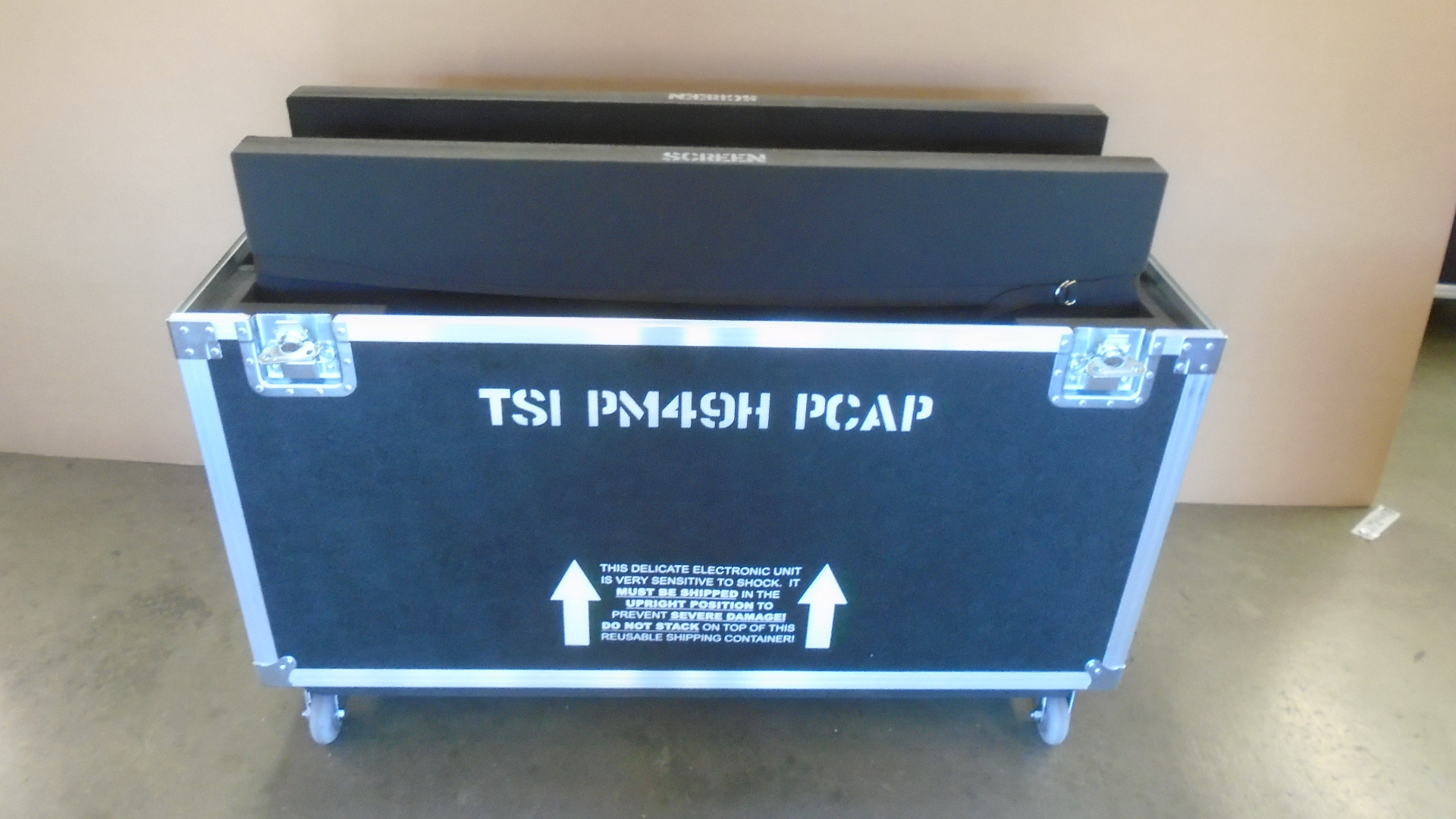 Print # 7790 - Custom Road Case for 2-Pack Samsung PM49H TSI PCAP Monitor Kit	 By Nelson Case Corp