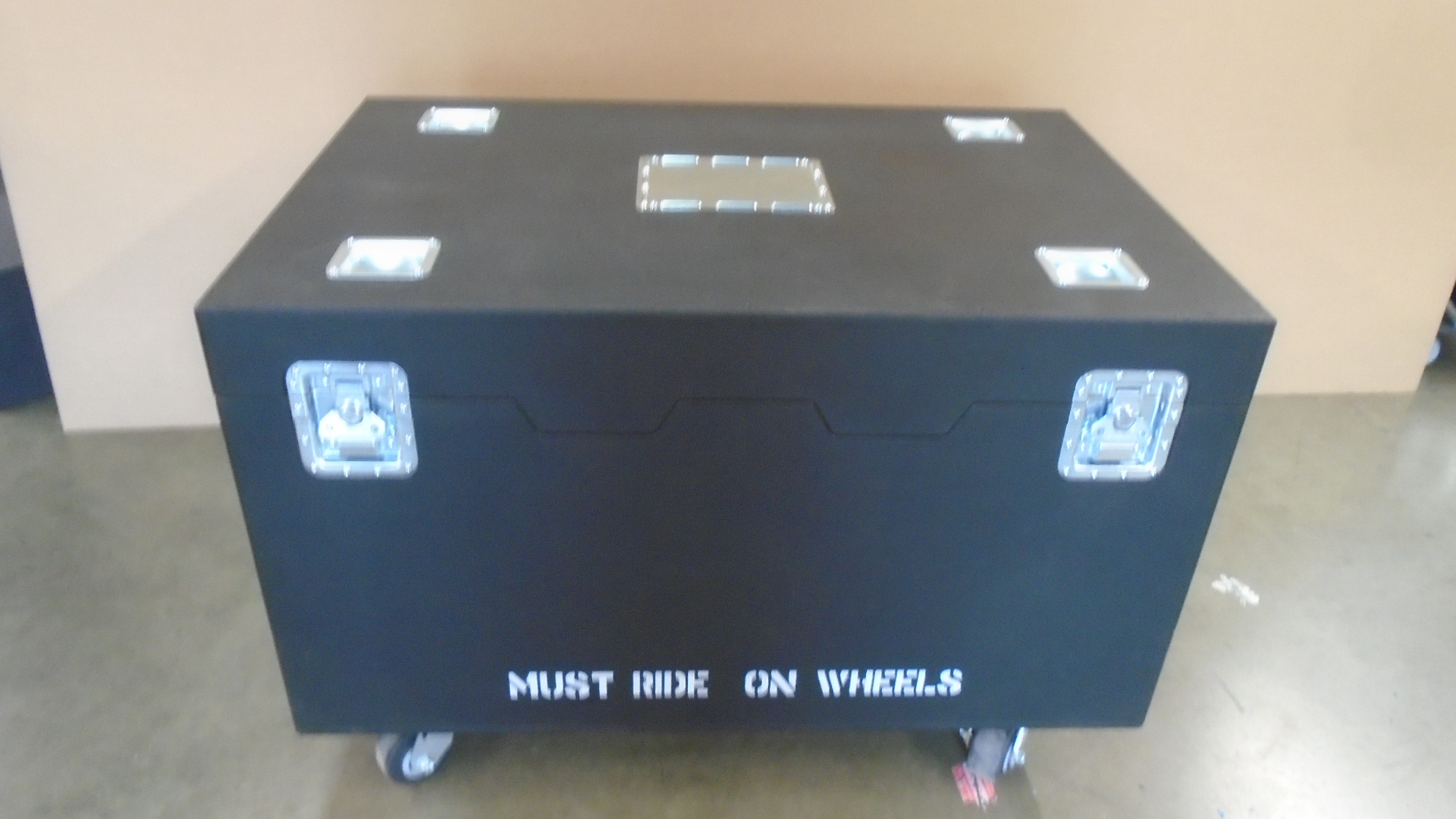 Print # 7795 - Custom Cadillac Trunk Case for PTZ Studio Rack, Shading Studio Rack By Nelson Case Corp